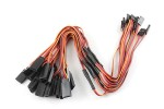 10pcs 26# / 26AWG Flat Extension Y Cable 300mm JR Color