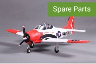 FMS Mini T-28 Red & White RC Warbird  800mm RTF