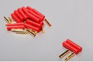 HXT 4mm Gold Connector with Protector (10pcs/set)