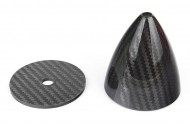 3.5″/ 89mm Carbon Fiber Spinner with Back plate 3K Surface Processing
