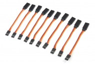 10pcs 26AWG Servo Extension Flat Cable 100mm JR Color