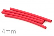 High Quality 1 Meter Heat Shrinkable Tubing Dia. 4mm (Red Color)