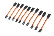 10Pcs 22# / 22AWG Heavy Duty Servo Extension Flat Cable 75mm JR Color