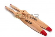 Six Star Standard Wooden Beech Propeller 17x6