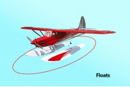 Seagull Funky Cub Float Set (Red)
