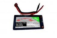 SilverAmps LiPo Battery 5000mAh 2S 60C Hard Pack