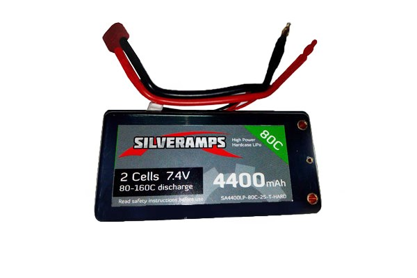 SilverAmps LiPo Battery 4400mAh 2S 80C Hard Pack