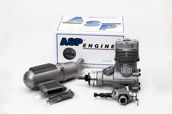 ASP SC46A Two Stroke Nitro / Glow Engine