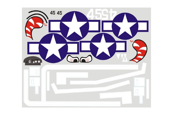 FMS F6F Hellcat 1400mm Decal Sheet
