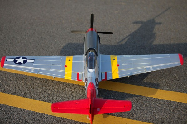 Buy FMS P51-D Red Tail V8 Warbird RC Plane 1450mm PNP from HobbyGulf