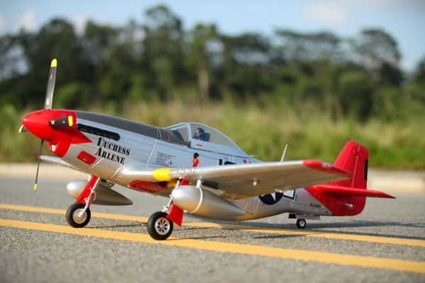 FMS P51-D Red Tail V8 Warbird RC Plane 1450mm PNP