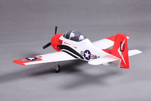 FMS Mini T-28 Red & White RC Warbird 800mm RTF | US$158 00