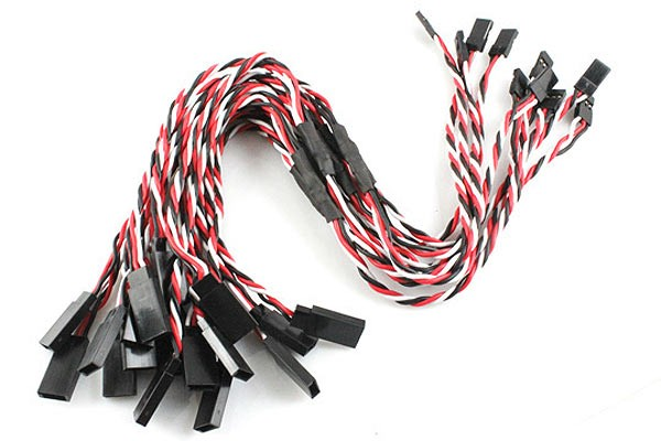 10Pcs Heavy Duty Servo Twisted Wire Y cable Futaba Color
