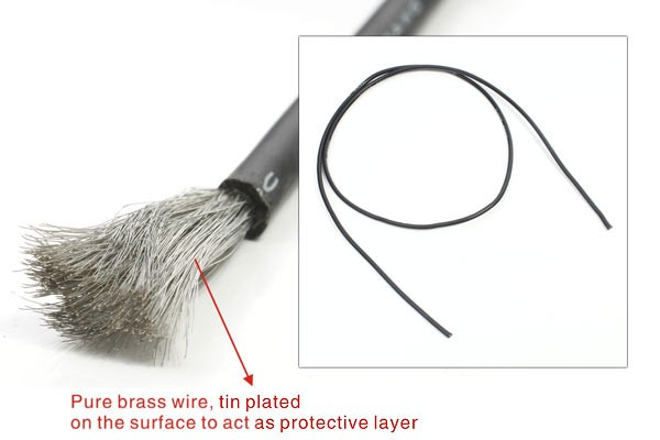 1 Meter 16AWG Black Silicone Wire 3.0mm