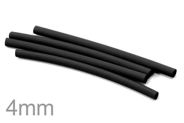 High Quality 1 Meter Heat Shrinkable Tubing Dia. 4mm (Black Color)