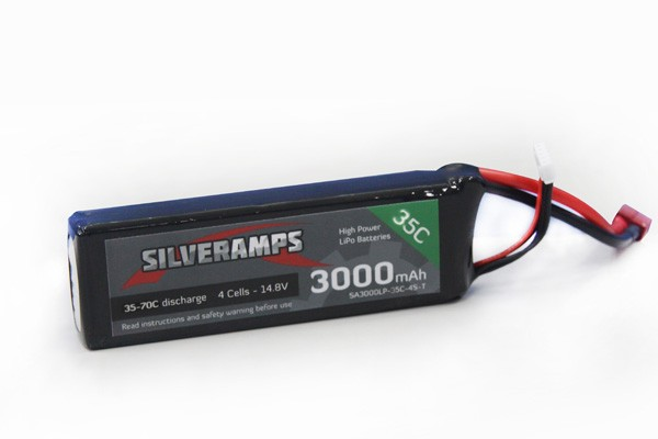 SilverAmps LiPo Battery 3000mAh 4S 35C