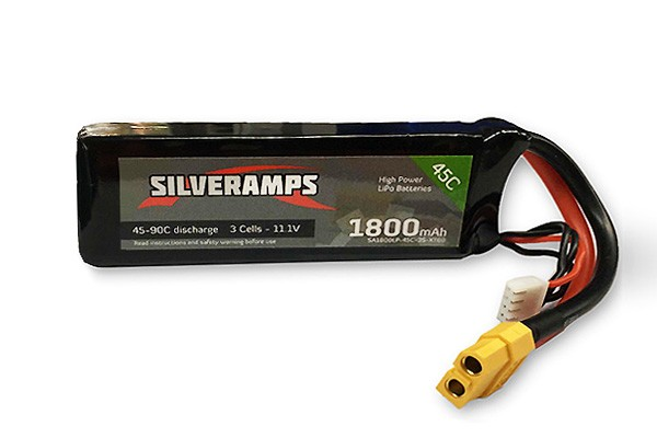 SilverAmps LiPo Battery 1800mAh 3S 45C