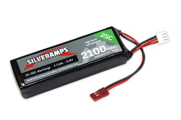 SilverAmps LiFe Battery 2100mAh 2S 25C