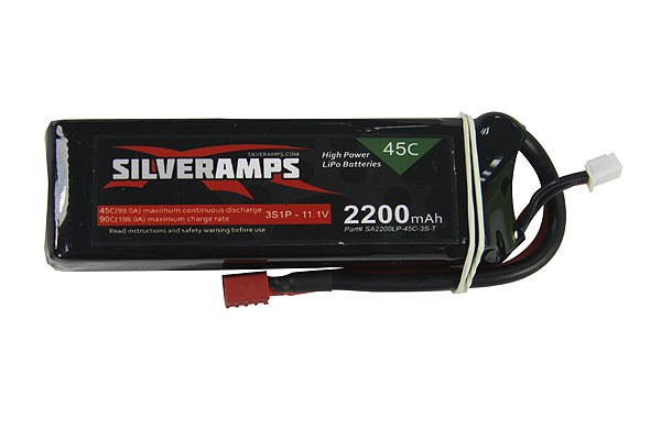 SilverAmps LiPo Battery 2200mAh 3S 45C