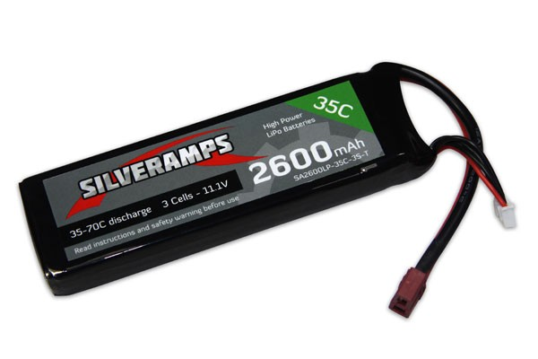SilverAmps LiPo Battery 2600mAh 3S 35C