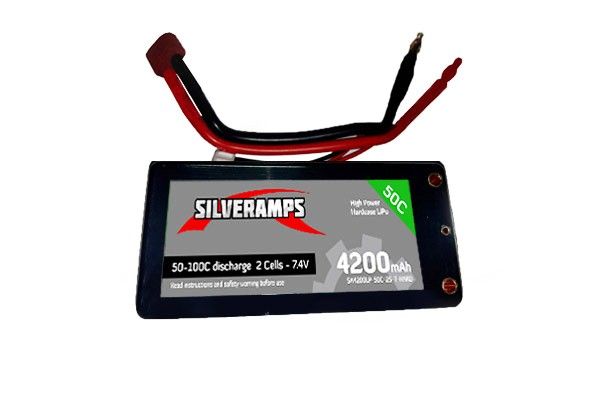 SilverAmps LiPo Battery 4200mAh 2S 50C Hard Pack